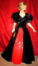 Lackkleid, Abendkleid aus Lack,lang,Vinyldress,Vinylgown,Wetlook