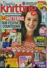 Simply Knitting UK Issue 152 2016 34 Patterns Festive Sewing FREE SHIPPING sb
