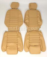 Alfa Romeo Spider Tan Vinyl Front Seat  CoverSet 90-93 New