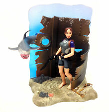 "Early TOMB RAIDER Lara croft 90's Video Game 6"" action figure toy with diorama"