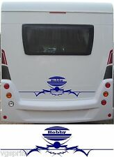 HOBBY LARGE MOTORHOME/CARAVAN REAR VINYL GRAPHICS DECALS CHOICE OF COLOURS #1