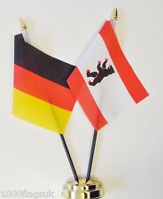 Germany Federal & Germany West Berlin State 1954 to 1990 Friendship Table Flags