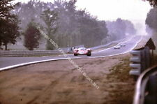 FERRARI 312P LE MANS 1969 RODRIGUEZ/PIPER photo at full speed Mulsanne straight.