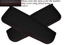 RED STITCHING FITS DAIHATSU COPEN 2003+ 2X SUN VISORS LEATHER COVERS ONLY
