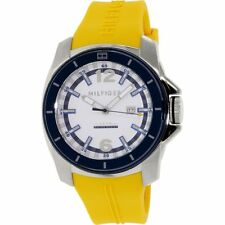 Tommy Hilfiger Men's Yellow Rubber Strap Watch, 50 Meter,  Date,    1791115