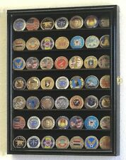 Military Challenge Coins Display Case Cabinet Rack Holder For Coin Collection