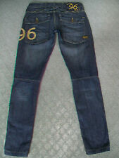 G STAR 'ELWOOD HERITAGE EMBRO NARROW WMN' JEANS WMN SIZE 6