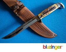 Pre-1970 CASE XX USA made Fixed Blade Genuine Stag Hunting Knife w/ Sheath 516-5
