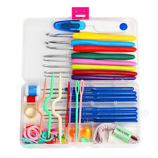 Set of Knitting Knit Crochet Needle Hook Basic Tools Accessory Supply Tool Case