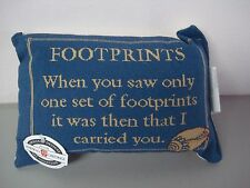 """USA Made Footprints 12.5"""" x 8.5"""" Tapestry Word Pillow #146"""