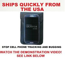 Large Cell Phone Pouch Blocks RF Signals Stops Cell Phone Tracking and Bugging