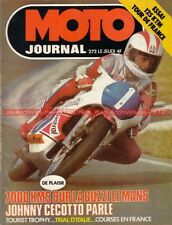 MOTO JOURNAL  272 GUZZI 850 Le MANS HONDA CB 750 Four JAPAUTO VX 1000 CECOTTO