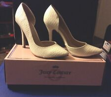 New Juicy Couture Size 10 Cyra White Heel Shoes