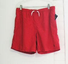 Ralph Lauren Boys Boxer Swim Trunks Red Sz L (14-16) - NWT