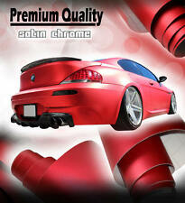 1520mm x 300mm Satin Chrome Red Vinyl Film - Air Drain Matt Car Wrap Sticker