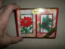 Congress Christmas Poinsettia & Pinecones Playing Cards 2 Decks Sealed in Box