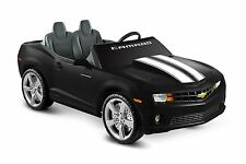 Car For Kids Ride On Toys Cheverolet Camaro 2 Seater 12V Racing Black Gift Child