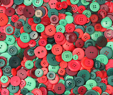 100g Bag of Xmas Colour Buttons *Assorted Shapes and Sizes