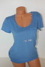 T Shirt ARIZONA Blue Cap Sleeve Slub Sheer Scoop Neck T-shirt SZ S Small NWT NEW
