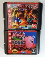 Kirby in Sonic the Hedgehog & Streets Rage 3 Sonic Sega Genesis Games Free Ship