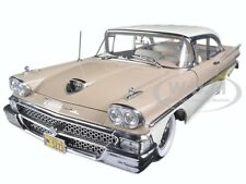1958 FORD FAIRLANE 500 HARD TOP BEIGE/WHITE 1/18 PLATINUM SERIES BY SUNSTAR 5273