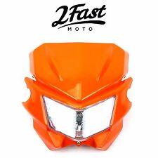 2FastMoto Acerbis Style Headlight Orange Street Sport Dirt Bike Offroad Suzuki