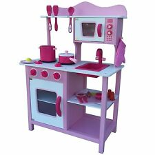 Cuisine Pour Enfants De Jeux rose blanc Bois Jouet en