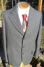 Bespoke Dated 1974 Chalk Stripe Sport Coat 40L - 3 Button Steampunk Jacket