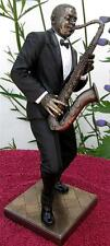 LARGE 28cm TALL JAZZ BAND TENOR SAXOPHONE PLAYER SCULPTURE Sax Music Saxophonist