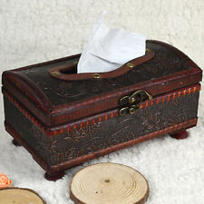 Hot Elegant Crafted Wooden Antique Handmade Old Tissue Box Antique Tissue Box CJ