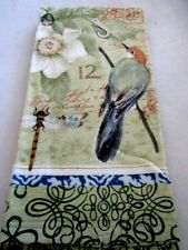HAND/ DISH 1 TOWEL BIRDS & DRAGONFLYS FLOWERS 100% COTTON NEW DECORATIVE GIFTS