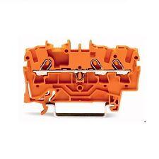 2001-1302 Wago 3-Leiter-Durchgangsklemme orange  0,25 - 1,5 mm²  8kV / 800V 18A