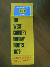 VINTAGE 1979 DEVON & CORNWALL HOLIDAY ROUTES TOURIST BROCHURE LEAFLET  38