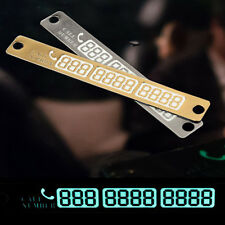 Car Luminous Temporary Parking Stop Sign Noctilucous Telephone Number Plate