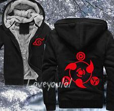 Winter Thicken Anime NARUTO Sharingan Unisex Sweatshirt Hoodie Jacket Coat 0222