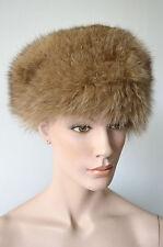 ECHTPELZ Kappe Hut Mütze FUCHS red fox fur hat cap vintage Pelz Pelzmütze Fell