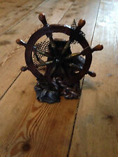 Lrg Pirates Shipwreck Wheel Ornament for Fish Tanks BN