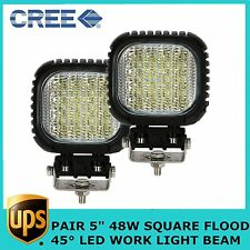 "2X48W CREE 5"" High Power LED Work Light Flood Beam Fog Lamp Offroad UTE SUV BOAT"
