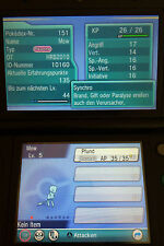 * SHINY Mew ORIGINALE Event POKEMON for POKEMON oras XY quasi transfer! 4+1 FREE