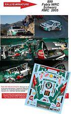 DÉCALS 1/43 réf 899 Skoda Fabia WRC  Schwarz Monte Carlo  2005