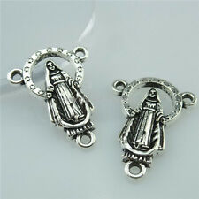 14000 25PCS Alloy Vintage Silver Tone Religious Faith Jesus Pendant Connector