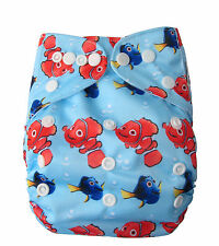 Reusable Modern Cloth Nappies One size fits all Reusable Diaper MCN Nemo