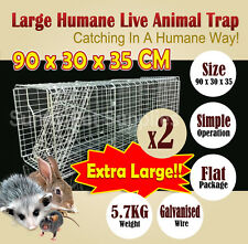 2x Extra Large Humane Live Animal Possums Rat Cat Rabbit Hare Bird Bait Rat Trap