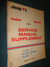 1971 JEEP GLADIATOR / WAGONEER ENGINE SHOP MANUAL / ORIGINAL J-SERIES BOOK