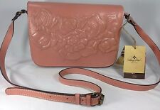 Patricia Nash Tooled Rose Navano Leather Flap Crossbody Blush Pink NWT $199.00