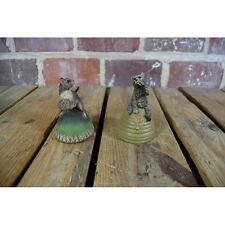Bear On Beehive & Squirrel On Acorn Bells Set By Creative World