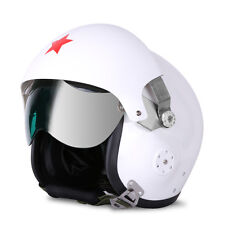 Speedwav Helmet Pilot Open Face-White-L