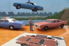 Papercraft 1971 Ford White Lightning movie car EZU-build Paper Car