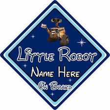 Personalised Little Robot On Board Car Sign – Baby On Board – Disney Wall-E DB