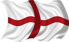 2 x ST GEORGES FLAG ENGLAND VINYL DECAL GRAPHIC CAR VAN  Imac LAPTOP STICKER